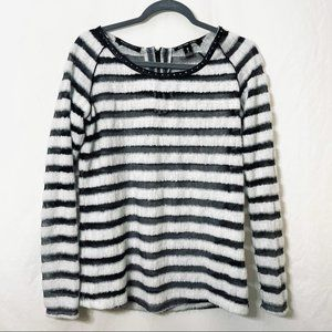 Scotch & Soda Net and Mohair Striped Sweater